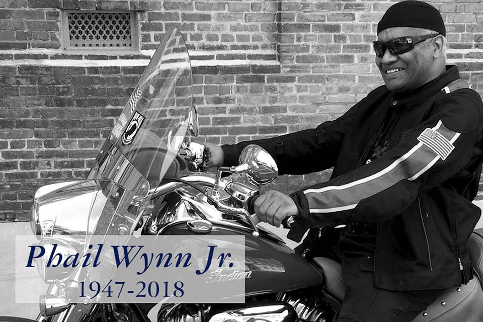 Phail Wynn on his beloved motorcycle.