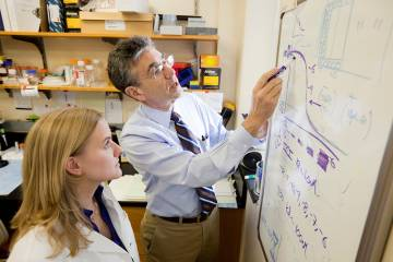 Robert Lefkowitz was famous for his mentoring long before he shared a Nobel Prize with a mentee. (Duke Photo)