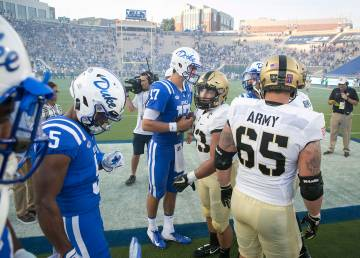 The gridiron Duke-Army clash was also a moment for the Duke student veteran community to meet. Photo by Jared Lazarus