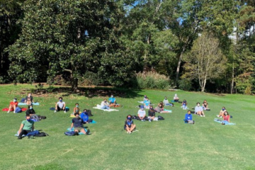 Jen'nan Read's class meeting in Duke Gardens