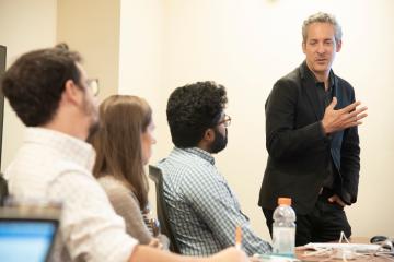 Brandan Garrett teaching in law class