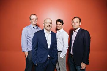Element Genomics founders (L-R) Greg Crawford, Kris Wood, Tim Reddy and Charlie Gersbach.
