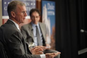 Gen. Stanley McChrystal talks with David Schanzer
