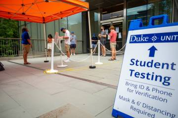 Incoming students made Penn Pavilion their first stop on campus to get tested for COVID-19.