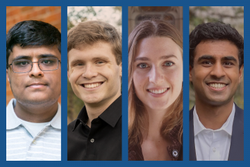 2021 Goldwater Scholars from Duke University, left to right: Yasa Baig, John Boom, Grace Dessert and Anish Karpurapu