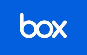 Box written against a blue background.