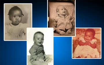 Left to right: Baby photos of Duke employees Mayme Webb-Bledsoe, Billy Newton, Cynthia Browning and Sharon White.