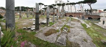 The ruins of the famed Basilica Ulpia, one of the most recognizable symbols of the Roman Empire.