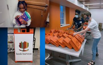 Employees with Dining Services and Facilities Management took home nearly 800 books this summer. Submitted photos.