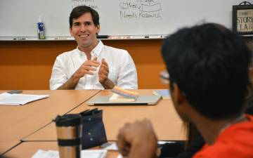 Carlos Rojas, a professor of Chinese Cultural Studies, teaches his course,