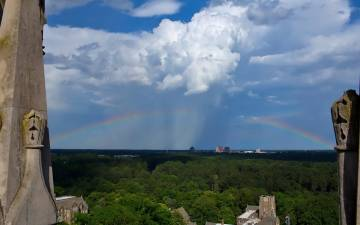 Joni Harris, Duke University Chapel's business and facilities manager, captured this image during one of her many trips to the roof of the iconic campus building.