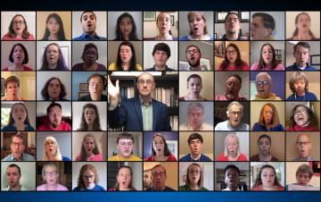 The Duke University Chapel Choir perform God's Got the Whole World for a recent service. Photo courtesy of Duke University Chapel Choir.