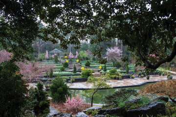 Rick Fisher photo of the terrace in Duke Gardens