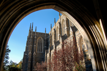 Duke Campus Beauty shot through archway
