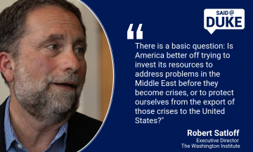 Said@Duke: Robert Satloff on Israel's Election