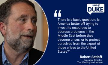 Said@Duke: Robert Satloff on Israel's Election