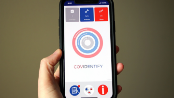 photo of CovIdentify app