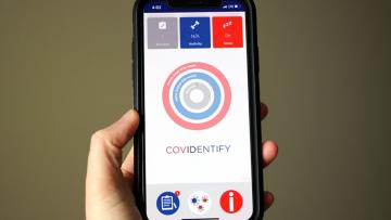 photo of CovIdentify app