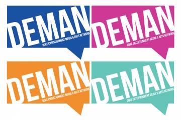 DEMAN logo times 4