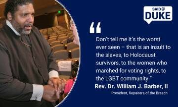 William Barber: Don't tell me it's the worst, that's an insult to slaves...