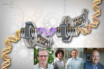 Element Genomics founders (L-R) Greg Crawford, Tim Reddy, Charles Gersbach and Kris Wood