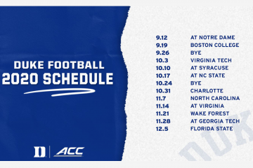 Duke 2020 football schedule