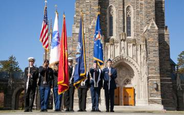 Duke will hold its Veterans Day Commemoration on Nov. 11 inside Duke University Chapel. Photo by University Communications.