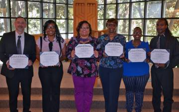 The first class of the Foundational Skills Program graduated in April. Photo by Jonathan Black.