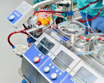 stock image of blood processing unit in surgery