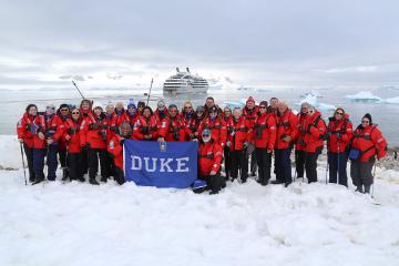 Duke Alumni group on an association tour.