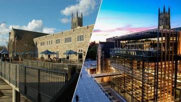 West Campus at the beginning and end of the decade