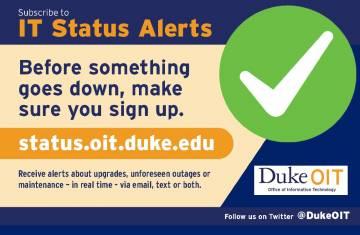 IT Status Alert flyer with link