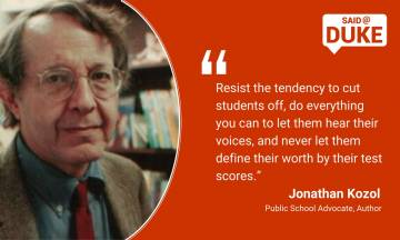 Jonathan Kozol: Resist the tendency to cut students off.