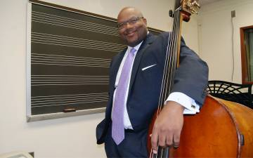 As a musician and educator, John V. Brown aims to provide the Duke community with plenty of opportunities to engage with jazz. Photo by Stephen Schramm.