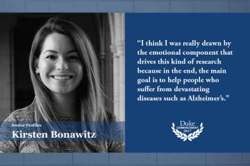 Kirsten Bonawitz: I think I was really drawn by the emotional component that drives this kind of research because in the end, the main goal is to help people who suffer from devastating diseases such as Alzheimer's