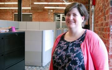 Kristie Gordon in her office.