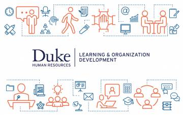 Duke Learning & Organization Development with various icons.