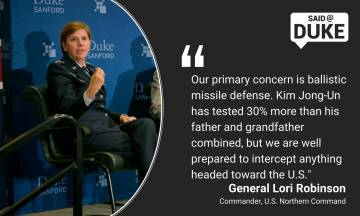 Gen. Lori Robinson: Our primary concern is ballistic missile defense