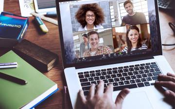 Zoom meetings can keep you connected with colleagues.