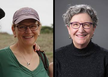 Two Duke professors have been elected to the National Academy of Sciences: Robert F. Durden Professor of Biology Susan Alberts (left), and Professor of Molecular Genetics and Microbiology Sue Jinks-Robertson (right)