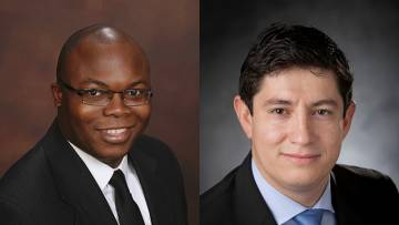 Opeyemi Olabisi, MD PhD, and Diego Bohorquez, PhD, are both School of Medicine investigators.