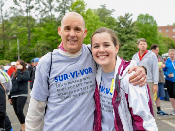 Tom O'Donnell remembers first meeting Stephanie Lipscomb when he walked with her at Angels Among Us 5K and Walk of Hope.