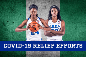 Duke student-athletes Onome Akinbode-James and Jennifer Ezeh