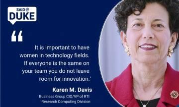 Said@Duke: Karen Davis on Women in STEM