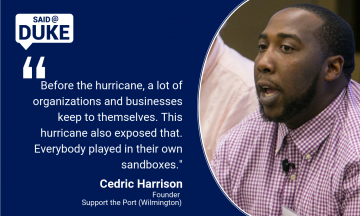 Said@Duke: Cedric Harrison on the Unifying Effect of Storms