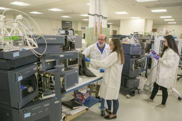 Duke's genomic sequencing core in the Chesterfield building (shown here in 2019) has been reading the genomes of covid-positive samples from Duke's campus and hospitals. (Jared Lazarus)