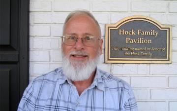 John Legge has volunteered at Duke HomeCare & Hospice since 2007. Photo by Carolyn Colsher.