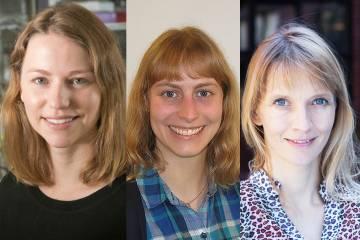 This year's Sloan Fellows (L-R): Emily Derbyshire, Jessica Fintzen, Eva Naumann.