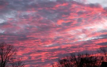 A colorful sky at sunrise.