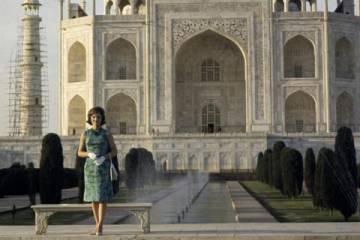 Jackie O at the Taj Mahal
